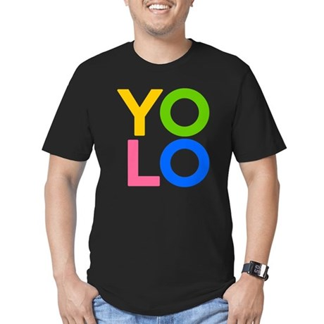 YOLO Mens Fitted Dark T-Shirt