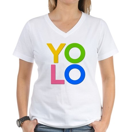 YOLO Womens V-Neck T-Shirt