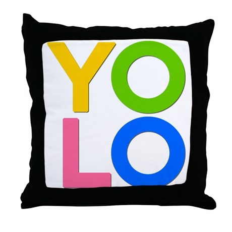 YOLO Throw Pillow