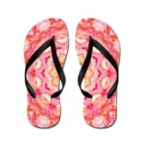 Yellow and Pink Romance Flip Flops