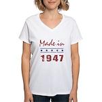 Made In 1947 Women's V-Neck T-Shirt