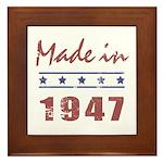 Made In 1947 Framed Tile