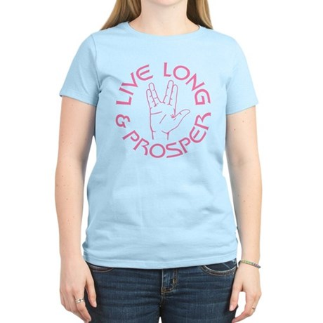 Live Long and Prosper Womens Light T-Shirt