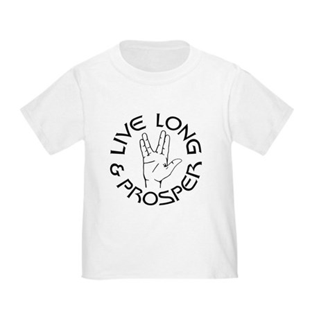 Live Long and Prosper Toddler T-Shirt