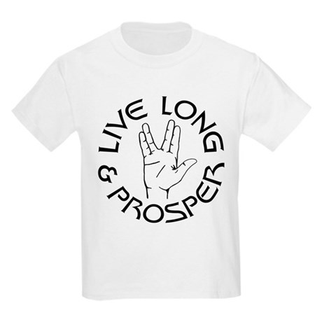 Live Long and Prosper Kids Light T-Shirt