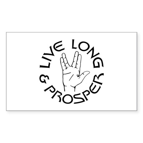Live Long and Prosper Rectangle Sticker