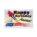 4th of July Rectangle Magnet (100 pack)