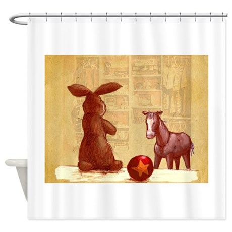 Velvet-Rabbit 2 Shower Curtain