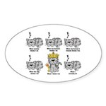 The Cat Sticker (Oval 10 pk)