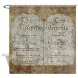 Ten Commandments 10 Laws Desi Shower Curtain