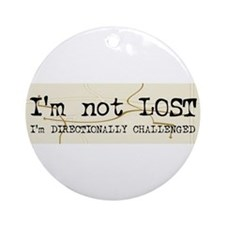 Directionally Challenged Ornament (Round)