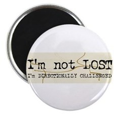 "Directionally Challenged 2.25"" Magnet (100 pack)"