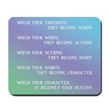 """Watch Your Thoughts"" Mousepad"