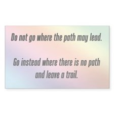 """Where the path may lead"" Decal"