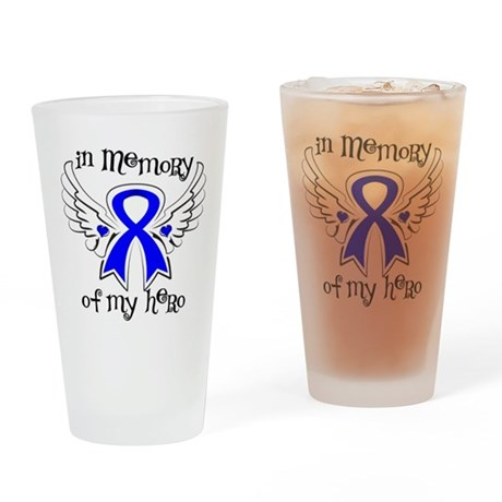 In Memory Colon Cancer Drinking Glass