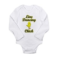 Line Dancing Chick Long Sleeve Infant Bodysuit