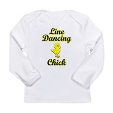 Line Dancing Chick Long Sleeve Infant T-Shirt