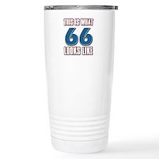 Cool 66 year old birthday designs Travel Mug