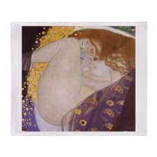 Gustav Klimt Danae Throw Blanket