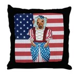 Dachshund Patriotic Dog Throw Pillow