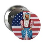 Dachshund Patriotic Dog Button