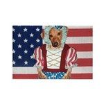 Dachshund Patriotic Dog Rectangle Magnet