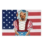 Dachshund Patriotic Dog Postcards (Package of 8)