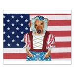 Dachshund Patriotic Dog Small Poster