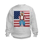 Dachshund Patriotic Dog Kids Sweatshirt