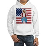 Dachshund Patriotic Dog Hooded Sweatshirt
