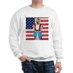 Dachshund Patriotic Dog Sweatshirt