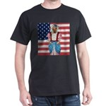 Dachshund Patriotic Dog Black T-Shirt