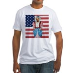 Dachshund Patriotic Dog Fitted T-Shirt