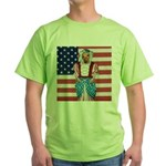 Dachshund Patriotic Dog Green T-Shirt