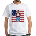 Dachshund Patriotic Dog White T-Shirt