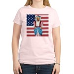 Dachshund Patriotic Dog Women's Pink T-Shirt