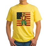 Dachshund Patriotic Dog Yellow T-Shirt
