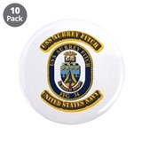 "US - NAVY - USS Aubrey Fitch (FFG 34) 3.5"" Button"