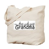 Grandma w/text Tote Bag