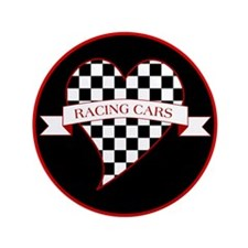 "I Love Race Cars 3.5"" Button (100 pack)"