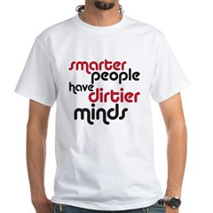smarter people White T-Shirt