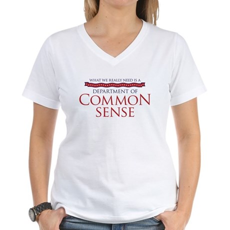 Department of Common Sense Women's V-Neck T-Shirt