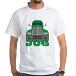 Trucker Joe White T-Shirt