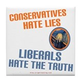Conservative vs Liberal Tile Coaster