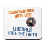 Conservative vs Liberal Mousepad