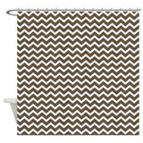 Brown Zigzag Pattern Shower Curtain