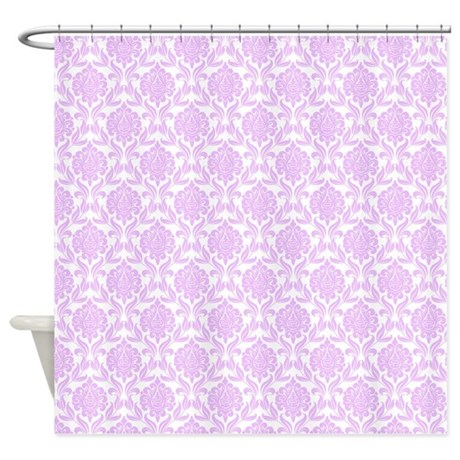 Lilac Damask Pattern Shower Curtain