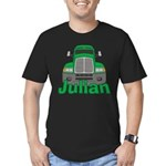 Trucker Julian Men's Fitted T-Shirt (dark)