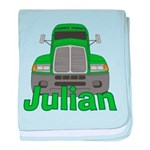 Trucker Julian baby blanket