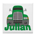 Trucker Julian Tile Coaster